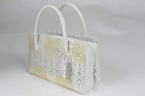 山口美術織物 バッグ 西陣織 正絹 唐織 利休バッグ 大奥袋物 箱付 YGB-26