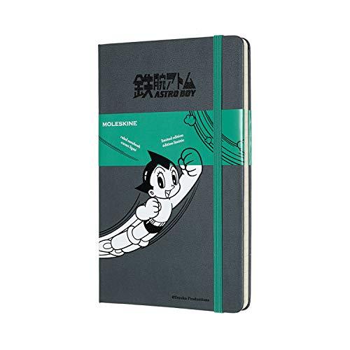 モレスキン ノート 限定版 ノートブック 鉄腕アトム 罫線 ラージ ダークグレー LEABQP060G25