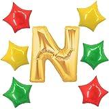 アドワン 数字 風船 バルーン 飾り付け 誕生日 ゴールド 大きい 数字1~9 文字 記念日 お祝い (N)