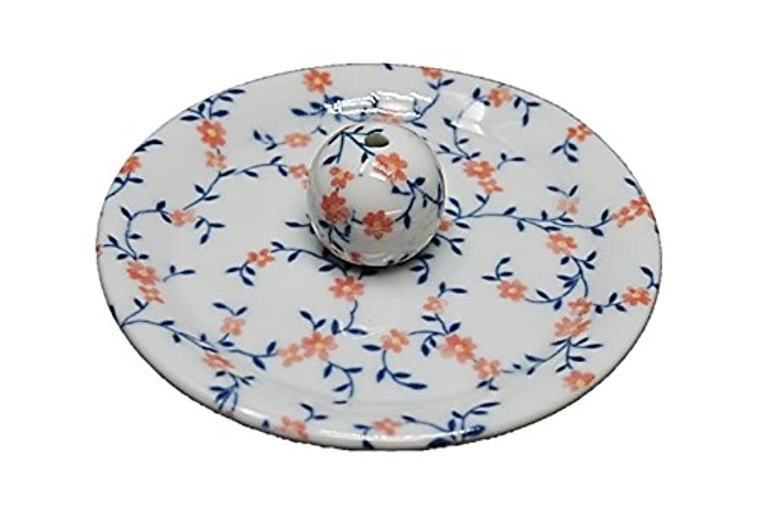 音節収まるなに9-6 カントリーフラワー 9cm香皿 お香立て お香たて 陶器 日本製 製造?直売品