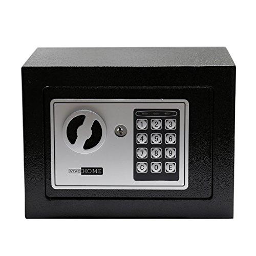 VIVOHOMEデジタル電子キーパッドロックセキュリティセーフボックスfor Moneyガンジュエリー 6.7 Inch Height
