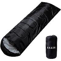 BAXON 寝袋 コンパクト シュラフ スリーピングバッグ 軽量 封筒型 丸洗い 日本語説明書付き 1年保証