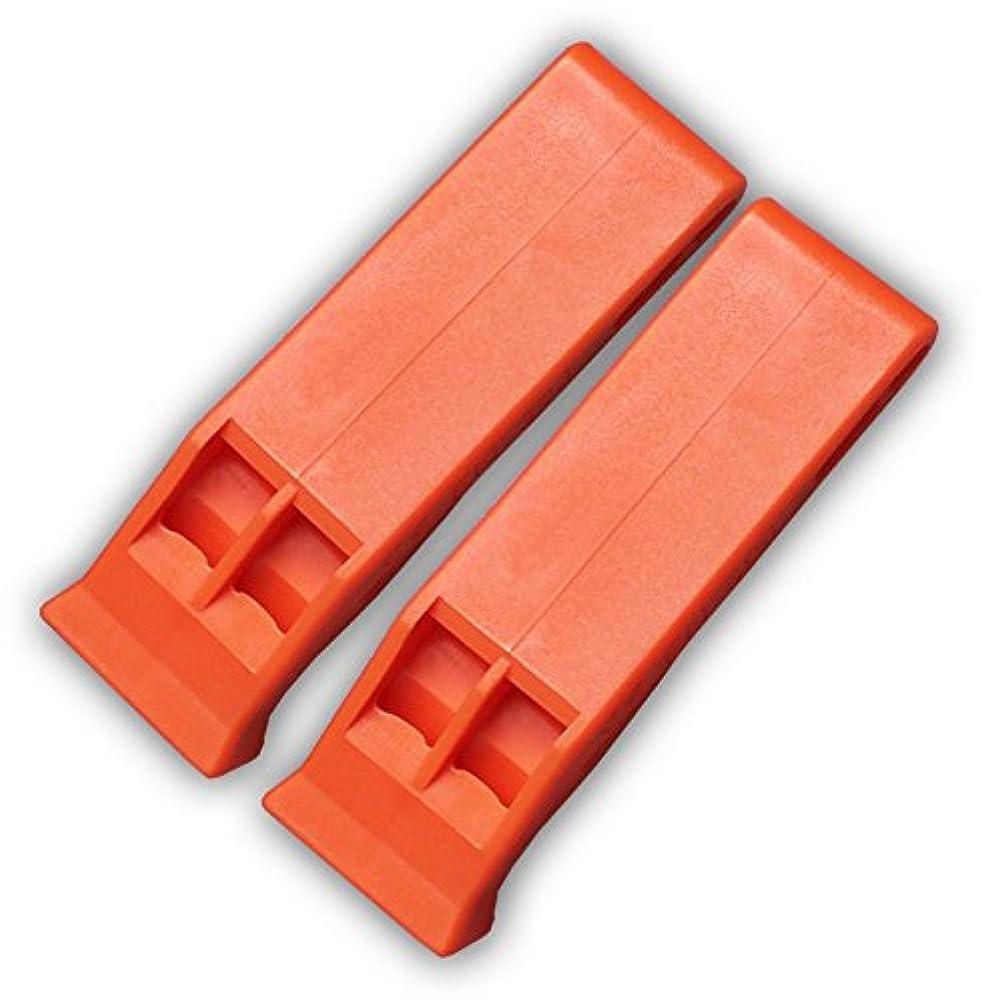 レンダリングエンゲージメント非アクティブASR アウトドア 緊急安全 フローティング オレンジ サバイバルキット ホイッスル クリップオン キーチェーン 4個パック