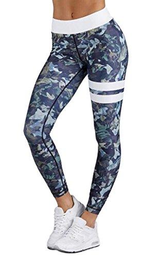 (エリンコ モア) erinco more レギンス スポーツタイツ フィットネスウェア ヨガウェア トレーニングウェア ランニングウェア タイツ (ブルー, XL)