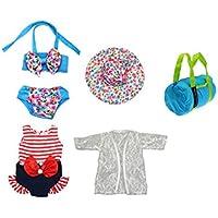 人形Bathing Suit Set 5 Piece for 13 – 18インチ人形Clothes