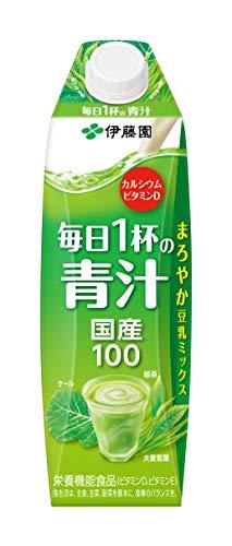 伊藤園 毎日1杯の青汁 キャップ付 屋根型紙パック 1L×6本