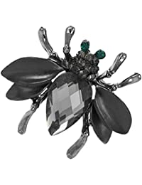 Baosity Women Mini Bee Brooch Wedding Bouquet Accessory Enamel Crystal Pin Brooches