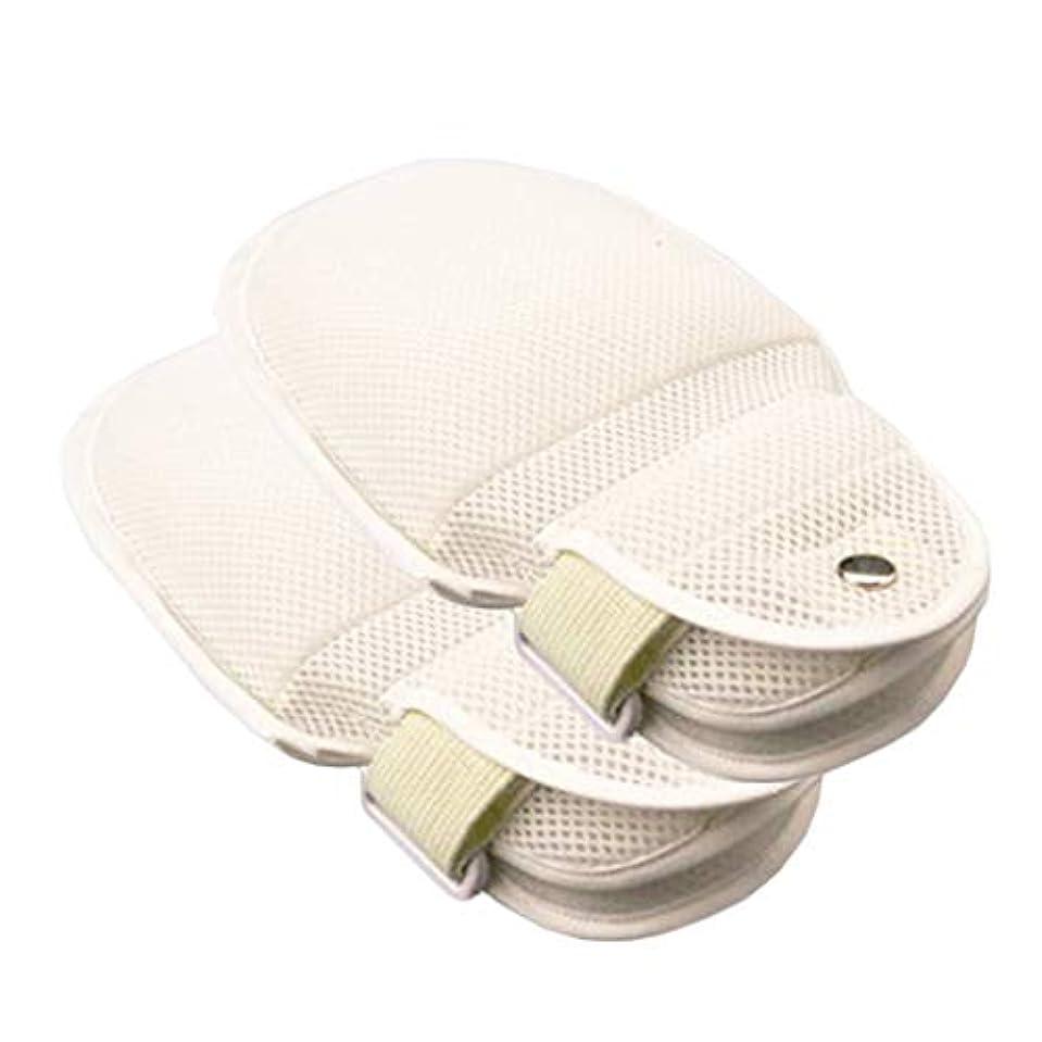 フィットネス石灰岩メディックフィンガーコントロールミット - 抗引っ張りチューブスクラッチ用品、柔らかい拘束手袋 - 認知症患者と高齢者のための手首拘束,2pcs