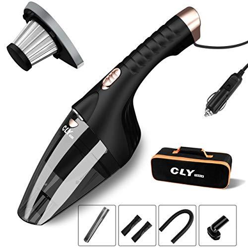 CLY 車用掃除機 乾湿両用 4500PA 超強吸引力 カークリーナー LED付き 5Mの電源コード ハンディクリーナー 掃除機 収納バッグ付き