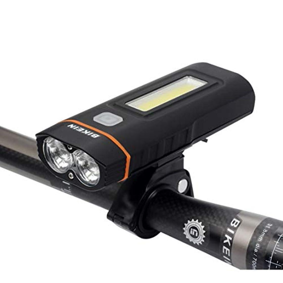 考古学者枯れるめんどりCAFUTY マウンテンバイクアクセサリーロードバイクライトUSB充電ヘッドライトサイクリング用品夜間走行警告灯 (Color : ブラック)