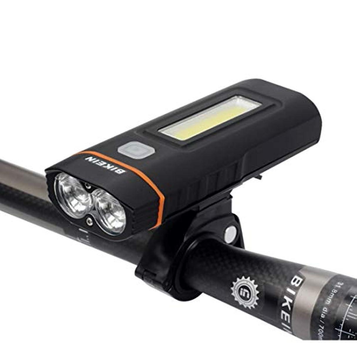 窓を洗う人工的な違反するJhcpca マウンテンバイクアクセサリーロードバイクライトUSB充電ヘッドライトサイクリング用品夜間走行警告灯
