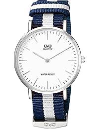 [シチズン キューアンドキュー]CITIZEN Q&Q 腕時計 ナイロンベルト 逆輸入 海外モデル ネイビー × ホワイト Q974J331Y メンズ