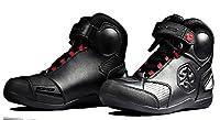 ライディングシューズ ライダーブーツ バイクウエア シューズ オートバイ&バイク用 レーシングブーツ プロテクトスポーツブーツ 黒