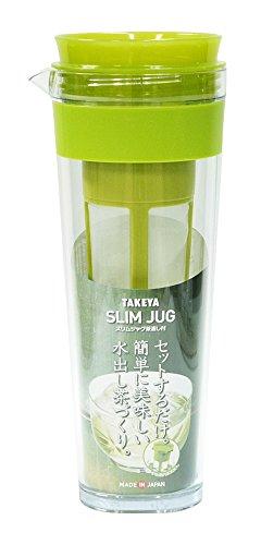 スリムジャグ 1.1L 茶漉し付 アボカドクリアー