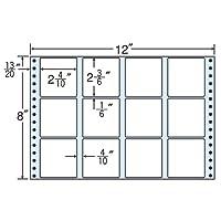 東洋印刷 タックフォームラベル 12インチ ×8インチ 12面付(1ケース500折) M12J