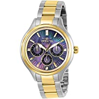 Invicta Women's Angel Quartz Watch with Stainless Steel Strap, Two Tone, 16 (Model: 28737)