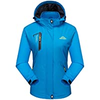 MAGCOMSEN Women's Lightweight Sportswear Hiking Waterproof Jacket Softshell Hooded Raincoats Outerwear