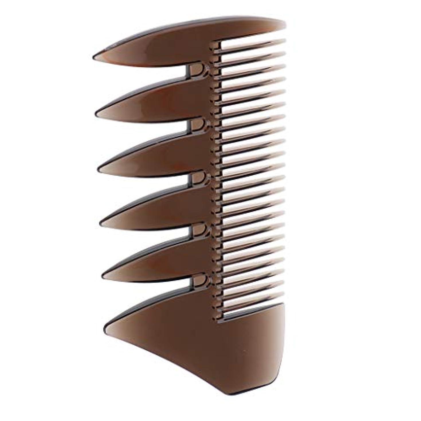 ローブ反発する排除するヘアブラシ デュアルサイド メンズ オイルヘアピック 櫛 くし