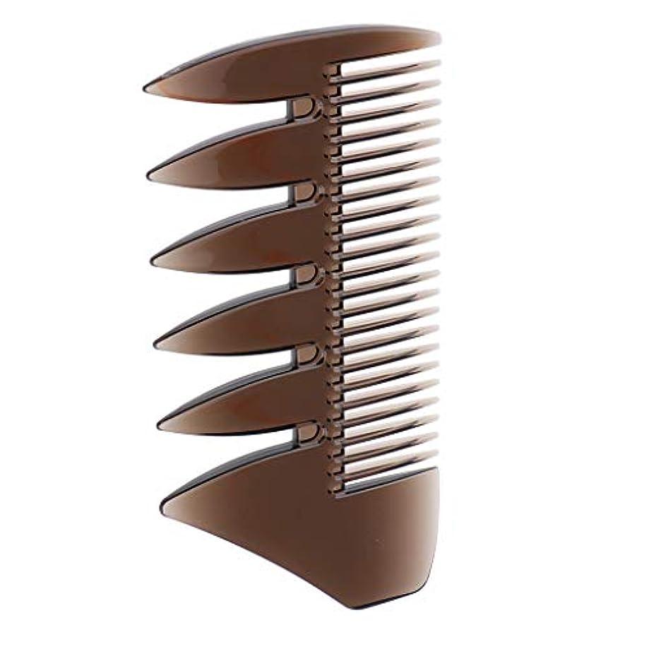 のみ検査ステップヘアブラシ デュアルサイド メンズ オイルヘアピック 櫛 くし