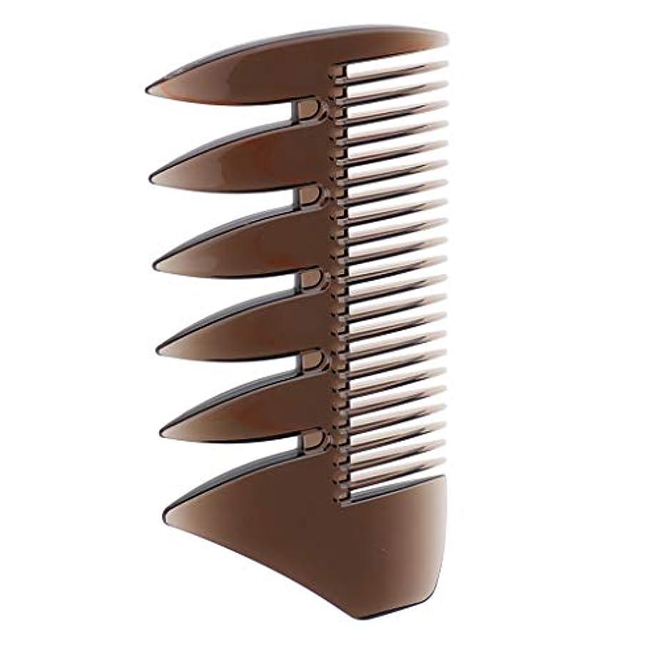 赤面事故建築家Injoyo デュアルサイドメンインオイルヘアピックコームサロン染料理髪スタイリングワイドトゥース