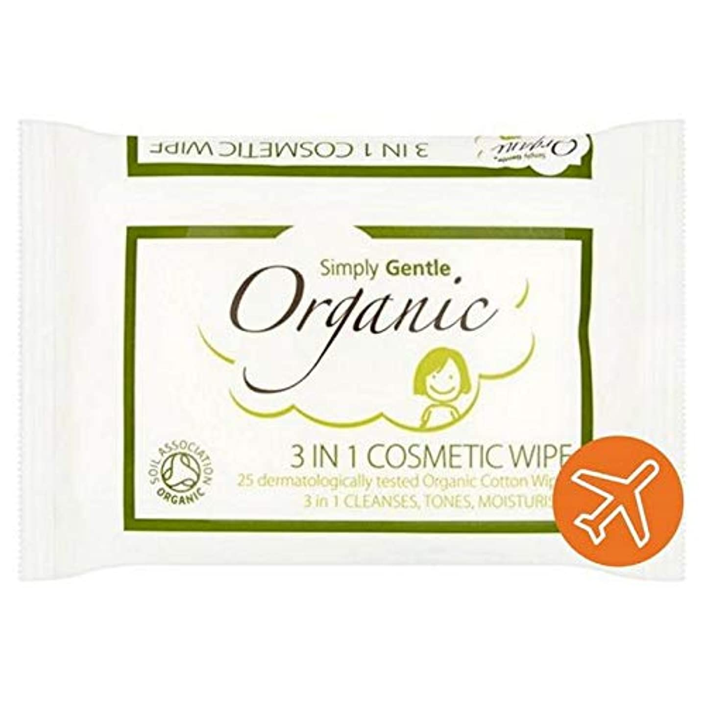 [Simply Gentle ] 単に優しい有機顔パックごとに25を拭きます - Simply Gentle Organic Face Wipe 25 per pack [並行輸入品]