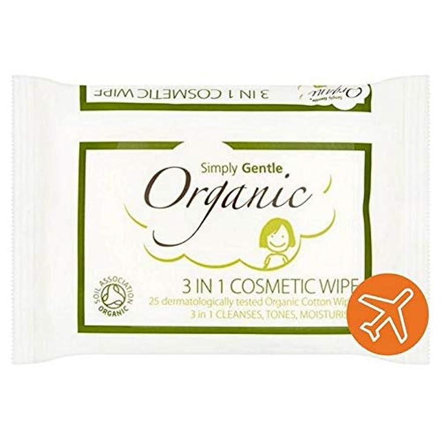 瞳導出頭痛[Simply Gentle ] 単に優しい有機顔パックごとに25を拭きます - Simply Gentle Organic Face Wipe 25 per pack [並行輸入品]