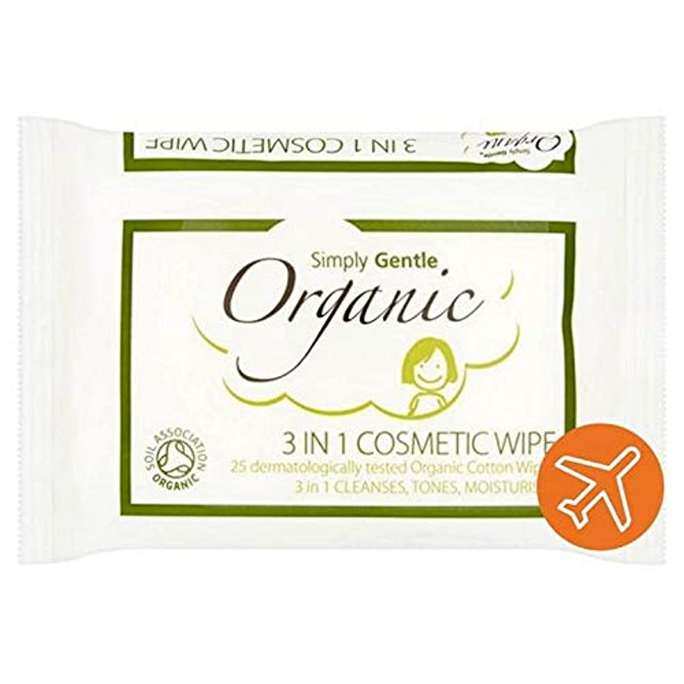 ホームレス波紋確認してください[Simply Gentle ] 単に優しい有機顔パックごとに25を拭きます - Simply Gentle Organic Face Wipe 25 per pack [並行輸入品]