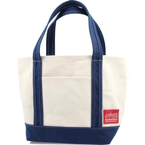 (マンハッタンポーテージ) Manhattan Portage キャンバス ダックミニトートバッグ Duck Fabric Mini Tote bag MP1305DUCK(S,Natural/Navy)