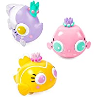 Bling Buddiezフローティング水のおもちゃバスタブとプール – 3、プールBath Toys for Toddlers & Kids With再利用可能なキャリーケース – Princess魚