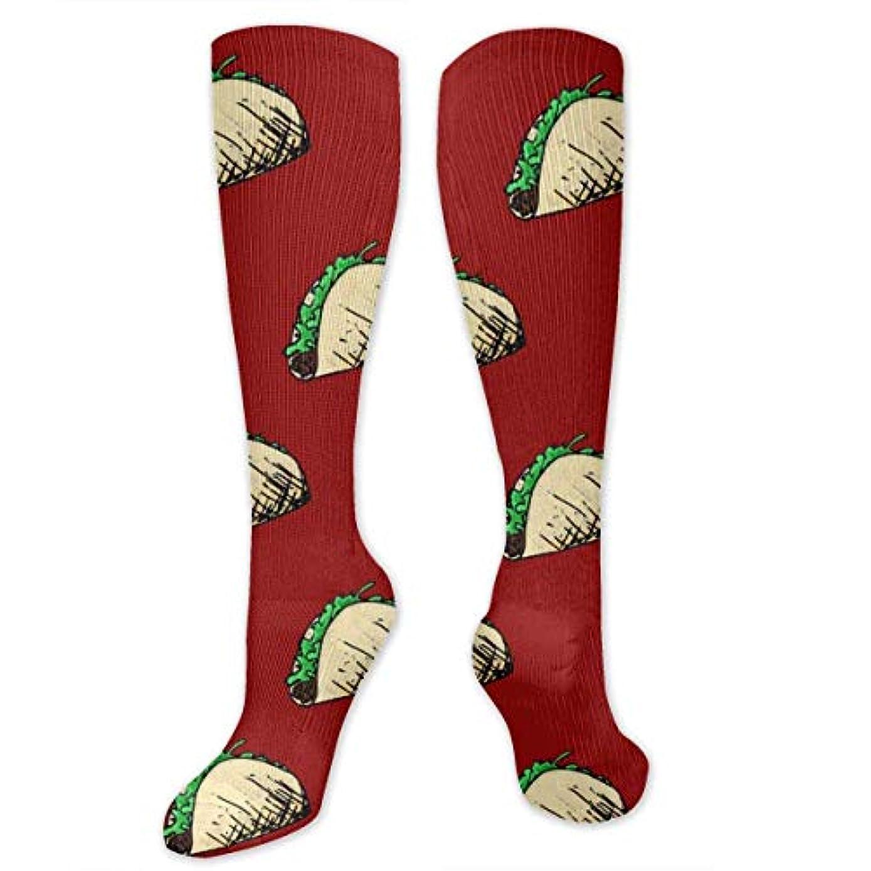 羽生き物薬靴下,ストッキング,野生のジョーカー,実際,秋の本質,冬必須,サマーウェア&RBXAA Taco On Red Socks Women's Winter Cotton Long Tube Socks Cotton Solid...