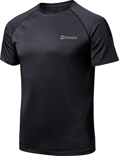 (テスラ) TESLA HyperDri ドライフィット スポーツ シャツ [UVカット・吸汗速乾] アクティブ Cool ドライ ランニング アスリート フィットネス トップ MTS03-KKZ_XL