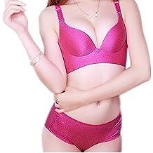 Womens Everyday Bra Plunge Push Up Bra Set Underwear and Panties Set