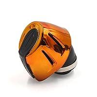uxcell オートバイ エアフィルター 汎用 ゴム プラスチック オートバイ 空気吸入 フィルター クリーナー 金色調 ブラック