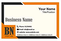 PersonalisedロゴビジネスカードカスタムデザインYour Own会社Visiting Card–フロント 500 Cards-Glossy