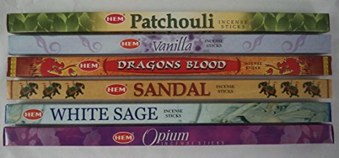 優先権専制抑圧Hemお香Best Sellerセット: 6ボックス# 4 x 8スティック、合計48 Sticks