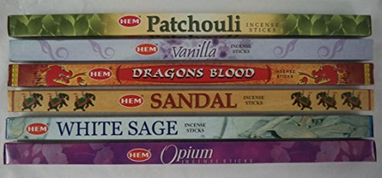 怖い寺院時刻表Hemお香Best Sellerセット: 6ボックス# 4 x 8スティック、合計48 Sticks