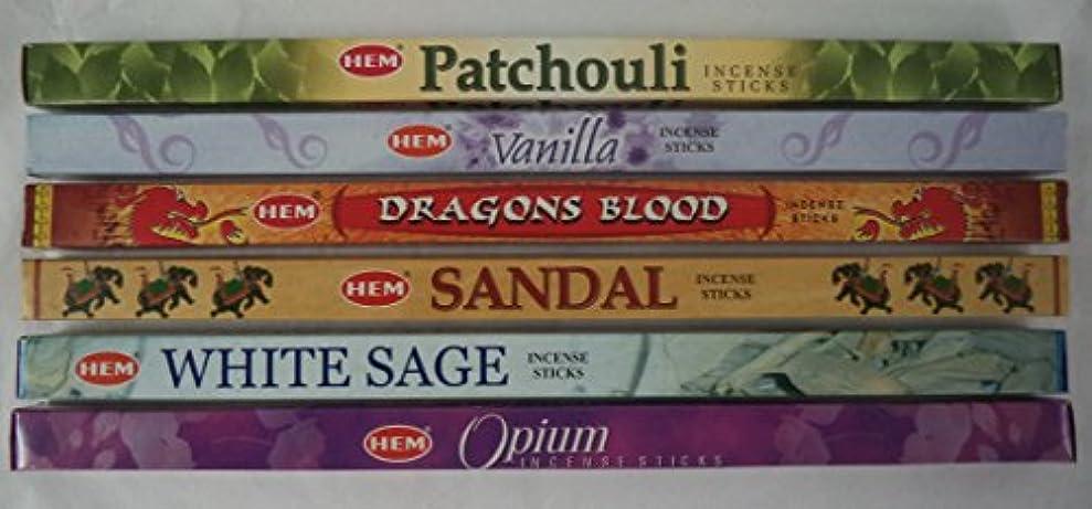 忠誠挨拶するギャンブルHemお香Best Sellerセット: 6ボックス# 4 x 8スティック、合計48 Sticks