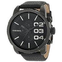 Diesel Men's Advanced Stainless Steel Quartz Watch with Calfskin Strap, Black, 26 (Model: DZ4216)