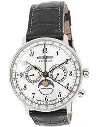 [ツェッペリン]ZEPPELIN メンズ ヒンデンブルク シルバーケース ブラウン レザー 7036-1 腕時計 [並行輸入品]