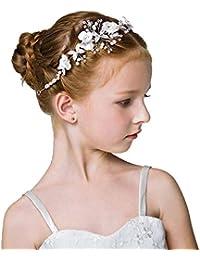 DreamYo髪飾りカチューシャ 子供 発表会 ジュニア フォーマル 花びら ヘアアクセサリー入学式 卒業式