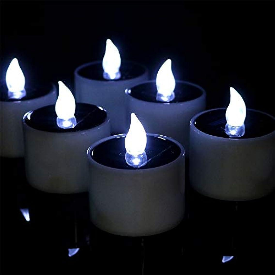 適応豆腐フローフレームレスキャンドル LEDの蝋燭ライト、6PCSは結婚式の誕生日教会党のためのFlameless LEDの蝋燭ライトを作動させました ハロウィーンの装飾用ライト (色 : Cool white flash)