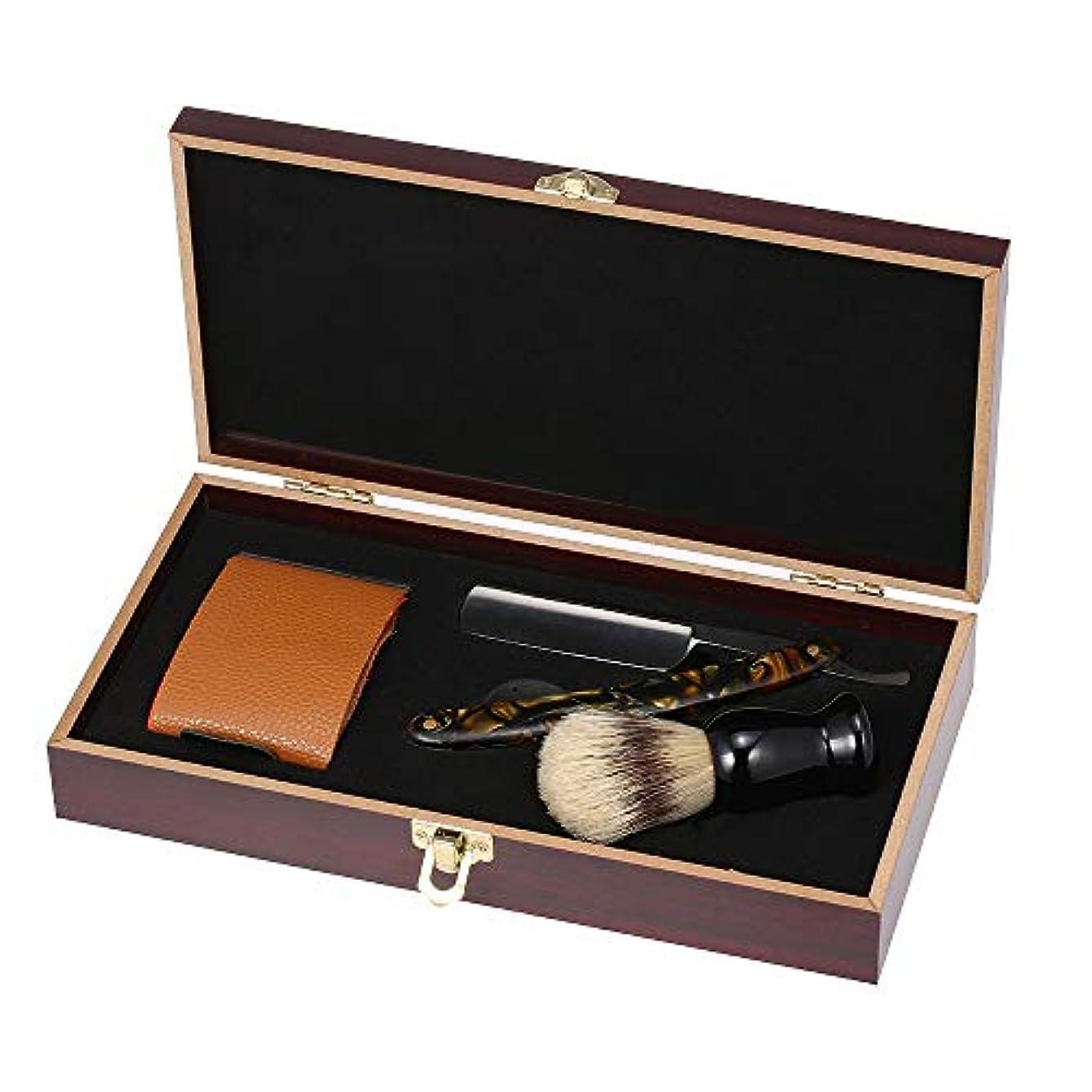 くま直感盆Men Shaving Straight Razor Blade Replaceable Manual Acrylic Handle Classic Barber Razors Blade Holder Clipper...