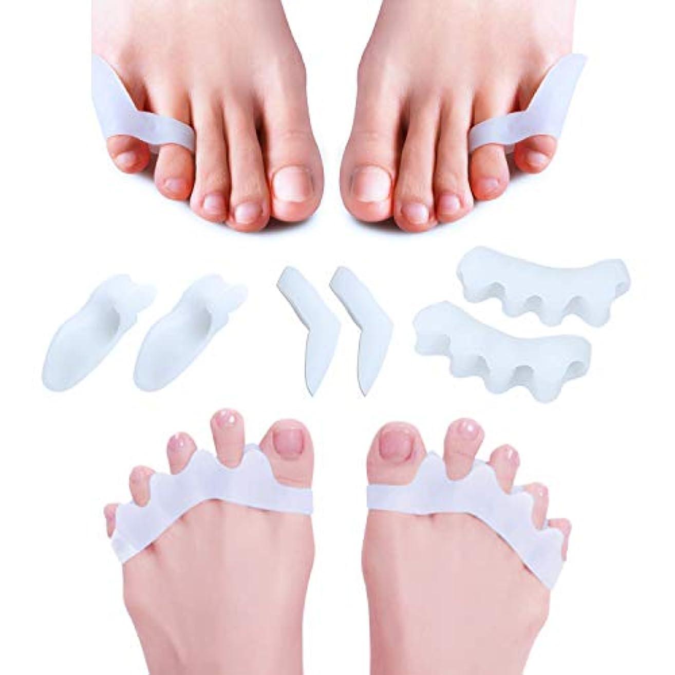 ナラーバー自分のためにいらいらさせる足指サポーター 改良版 Topbasic 足指を広げる シリコン素材 靴ズレ防止 6個3ペアセット 男女兼用 収納ケース付き