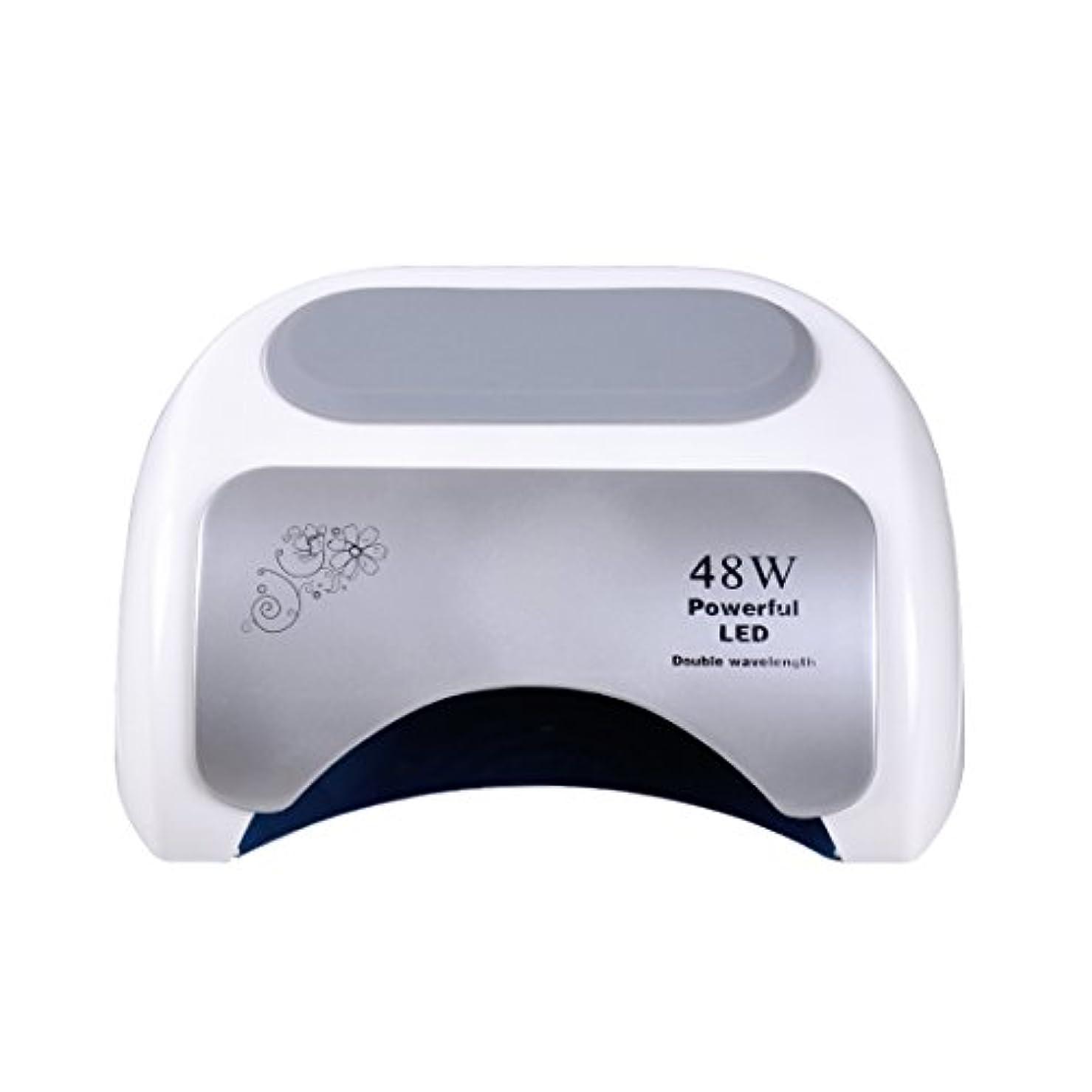 受け入れ感嘆符期待Nananail 48Wネイルドライヤー CCFL+ LEDネイルランプ 時間設定10s/30s/60s 速乾性 自動センサー付き