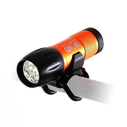DOPPELGANGER(ドッペルギャンガー) LEDフロントライト Nine-tailed fox [明るさ最大52ルーメン] [点灯時間最大50時間] ヘッドライトブラケット付属 DLF300-DP