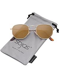SojoS ソホス レディース メンズ サングラス 紫外線カット UVカット 軽量 小顔 ミラーレンズ SJ1072