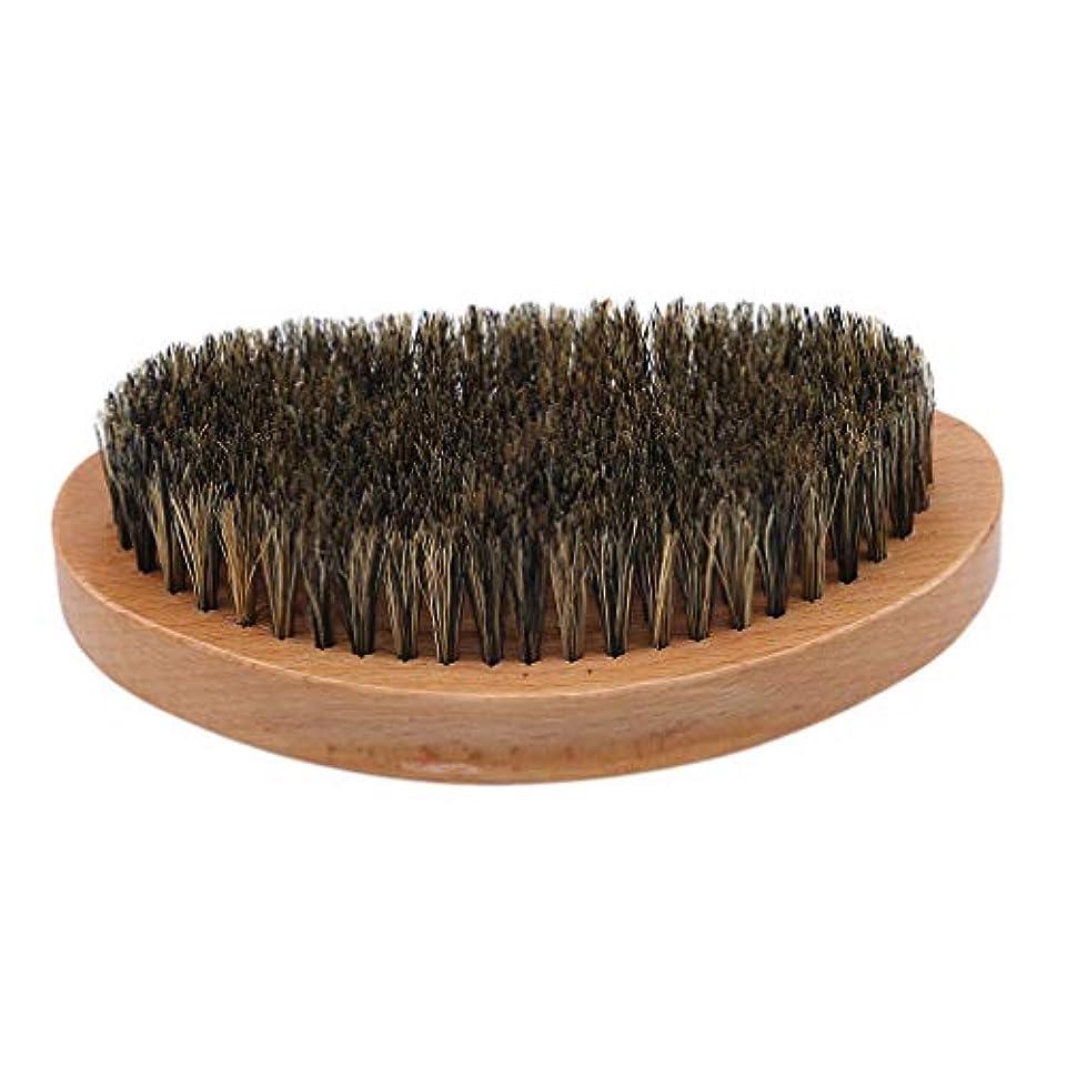 後者収穫銛Largesoy ひげブラシ メンズ用ブラシ 泡立ち 理容 洗顔 髭剃り マッサージ効果 アクセサリー プレゼント 1#