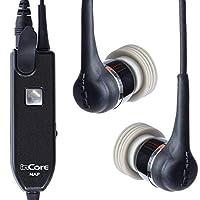 【世界特許】耳に優しいインコアイヤホン(難聴改善・予防、携帯電話の電磁波予防型) (ドコモ・ソフトバンク )黒