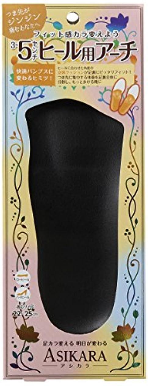 覗くプロペラアプローチASIKARA  3~5cm ヒール用アーチ ブラック