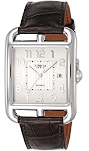 [エルメス]HERMES 腕時計 ケープコッド シルバー文字盤 自動巻 アリゲーター革 CD6.710.220.MHA メンズ 【並行輸入品】